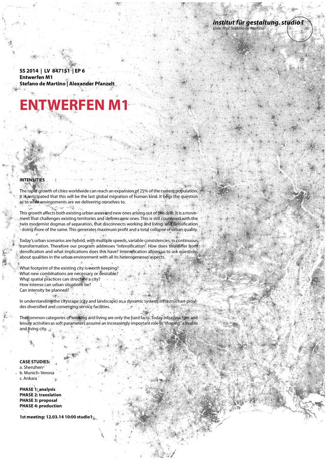 EM 1: Intensities - Institut für Gestaltung Studio 1
